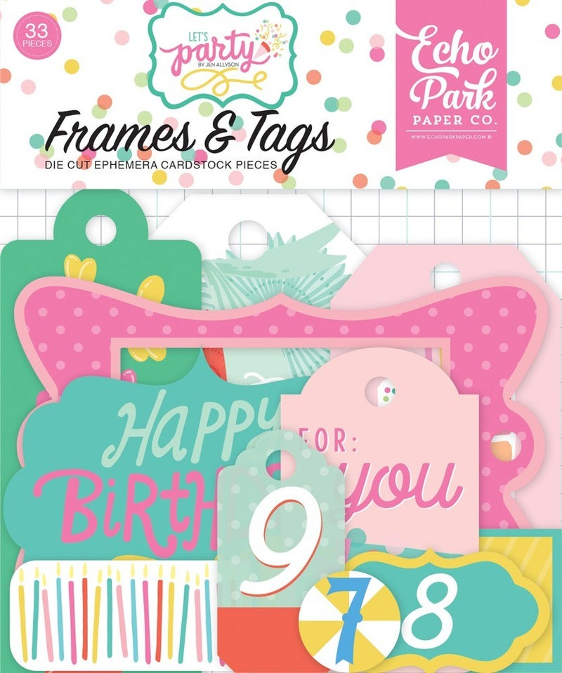 Let's Party Frames & Tags Ephemera