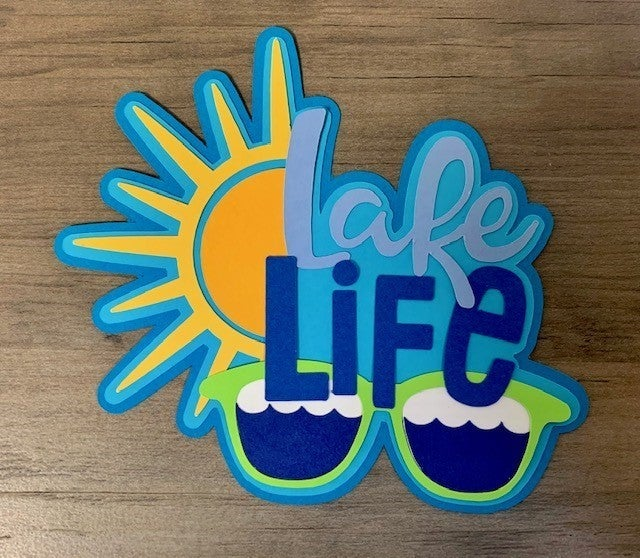 Lake Life Die Cut Size 4 1/4 x 5