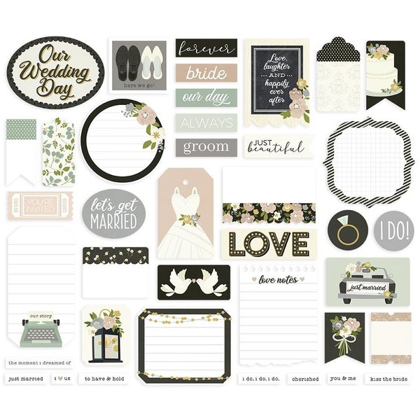 Happily Ever After Journal Bits Die Cuts