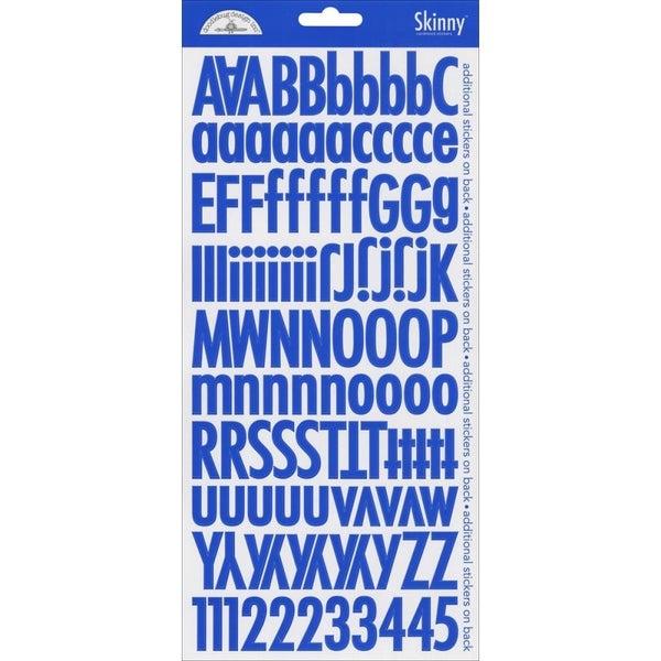 Skinny Alphabet Stickers - Blue Jean