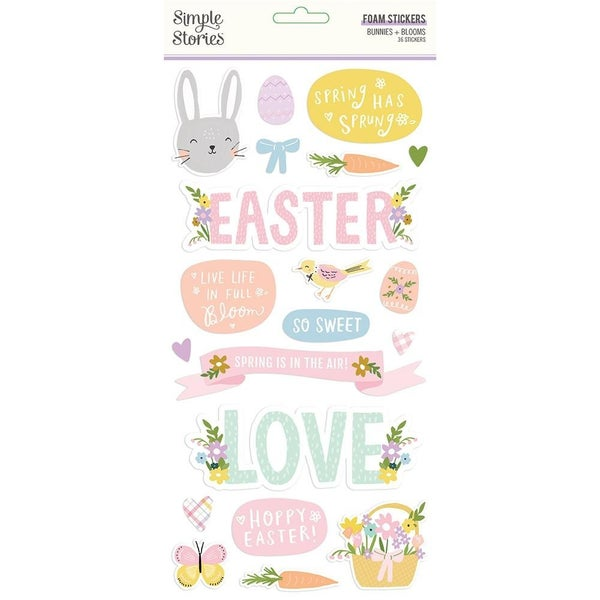 Bunnies & Blooms Chipboard Thickers