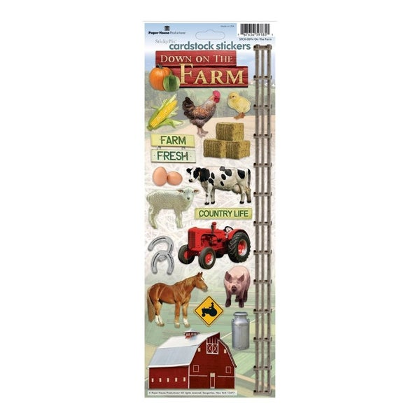 On the Farm Cardstock Stickers