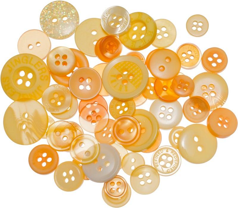 Buttons Mason Jar - Sunrise