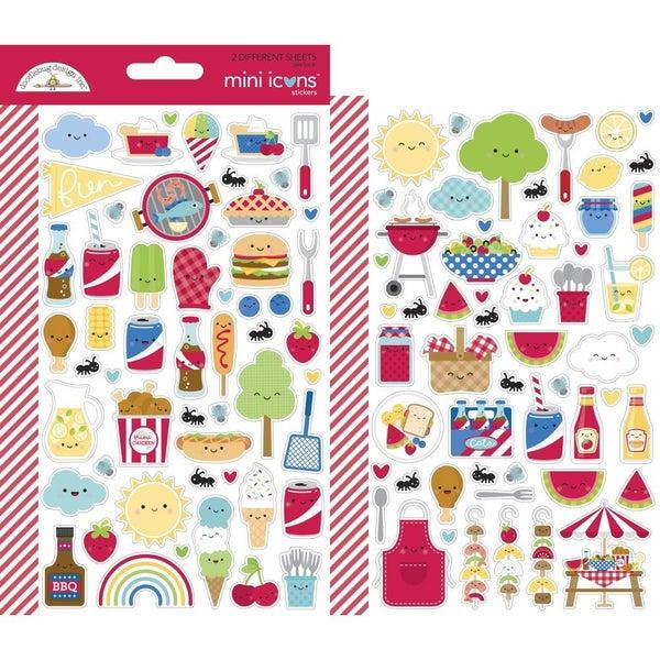 Bar-B-Cute Summer Food Mini Stickers