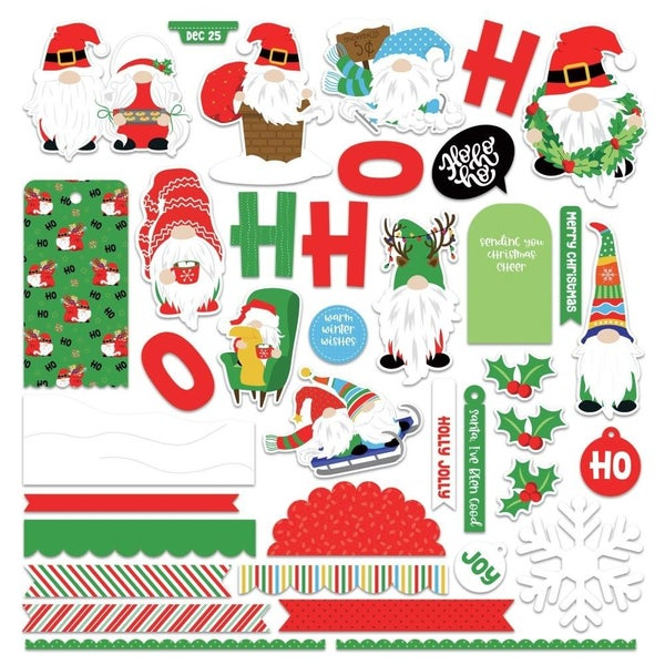 Gnome Christmas Card Stickers