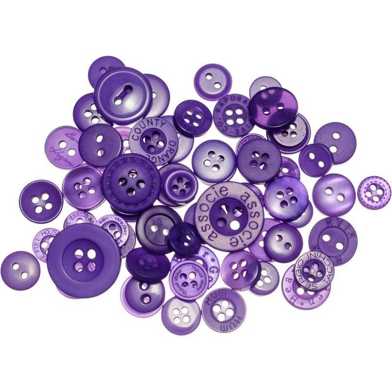 Buttons Mason Jar - Sour Grapes