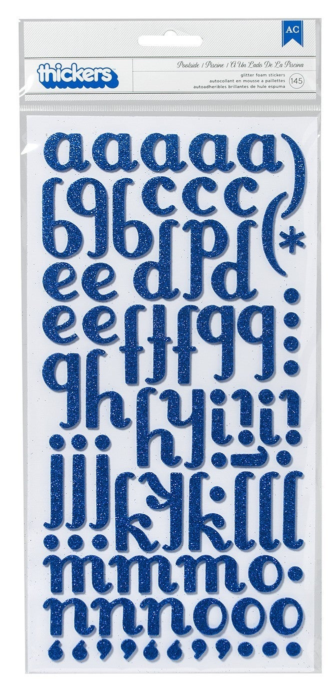 Poolside Marine Glitter Alphabet Thickers