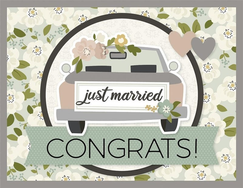 Just Married Wedding Card Kit
