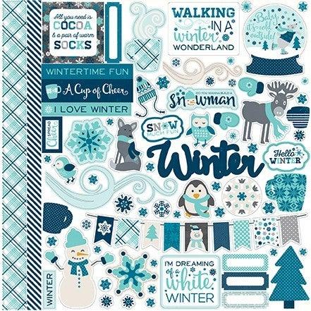 Hello Winter Element 12x12 Stickers