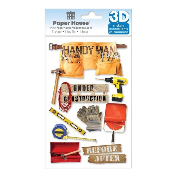 Handyman 3D Stickers