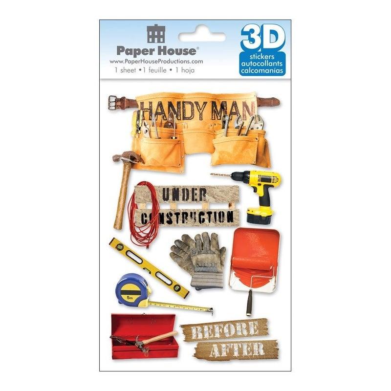 Handyman 3D Stickers