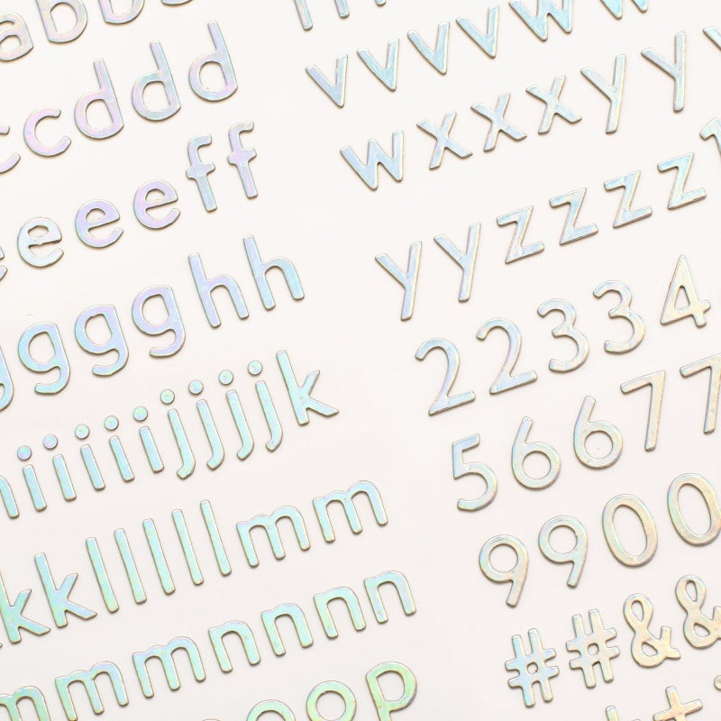 Old School Alphabet Thickers