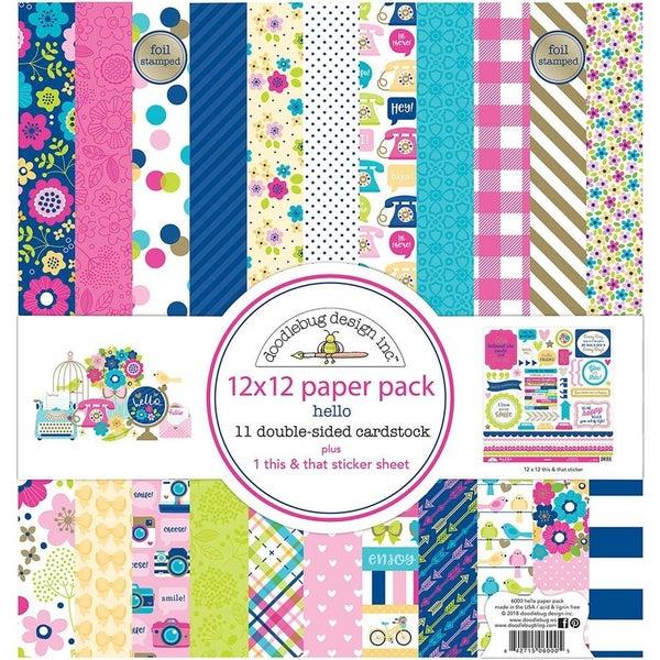 Doodlebug Hello Paper Pack