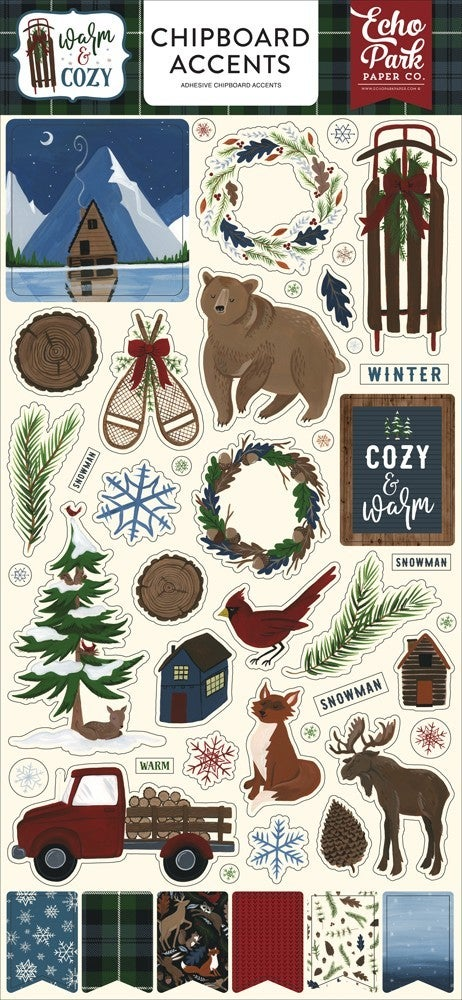 Warm & Cozy Chipboard Accent Thickers