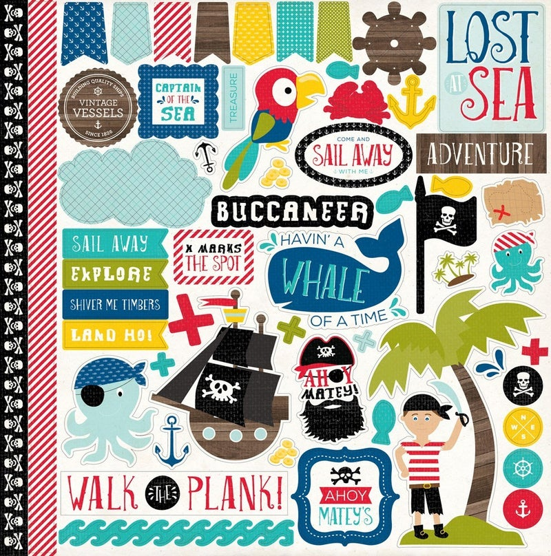 Pirate's Life 12x12 Sticker Sheet