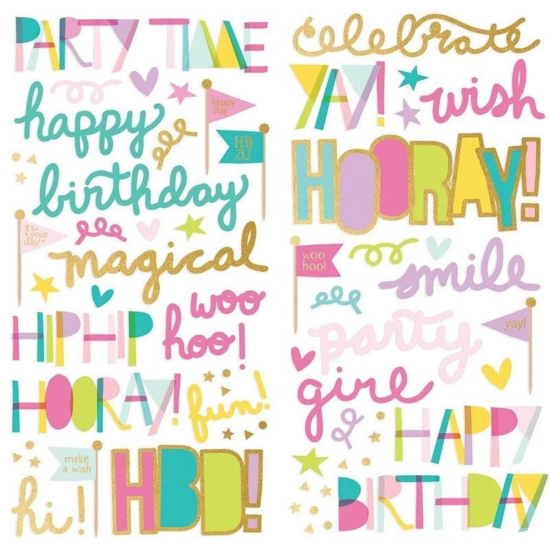 Magical Birthday Foam Stickers