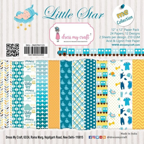 Little Star Baby Boy Paper Pad