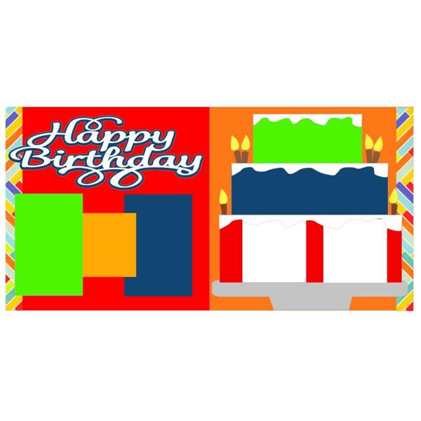 Happy Birthday Cake B Kit