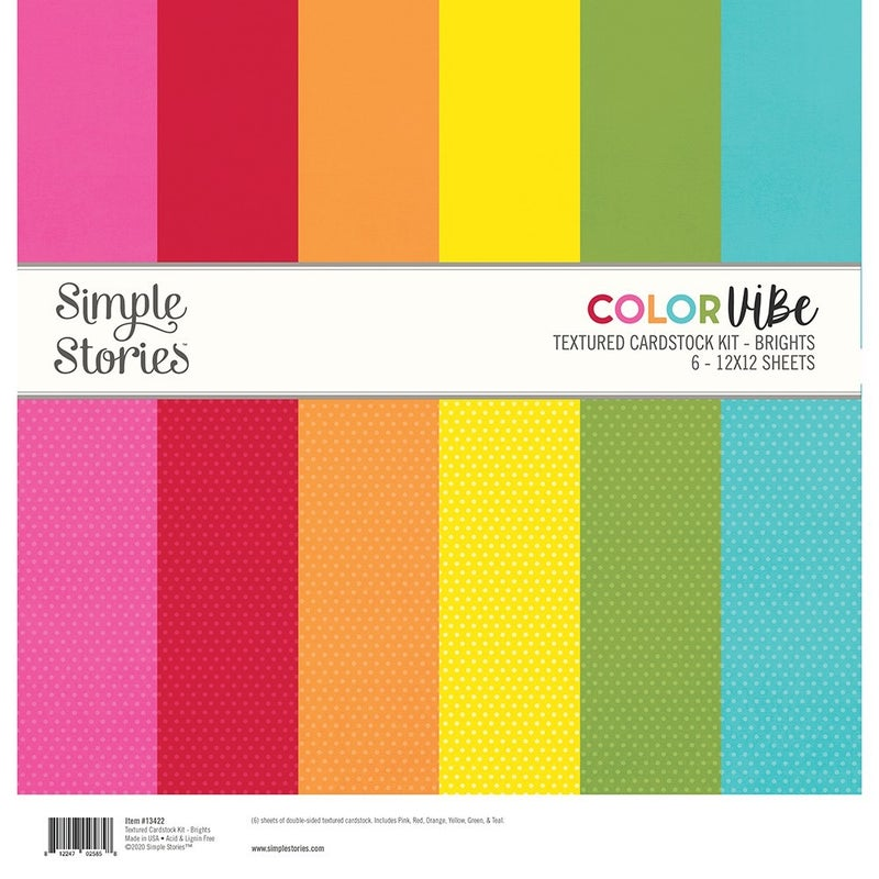 Brights Textured Cardstock Paper Pack