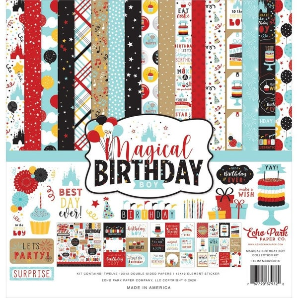 Disney Magical Birthday Boy Paper Pack