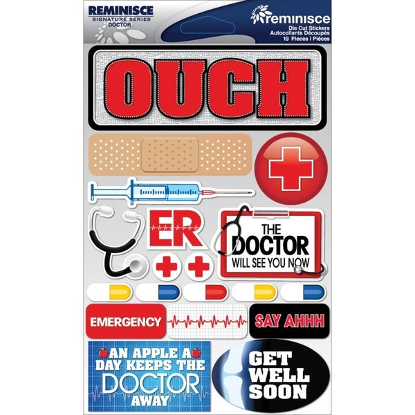 Doctor Hospital 3D Stickers
