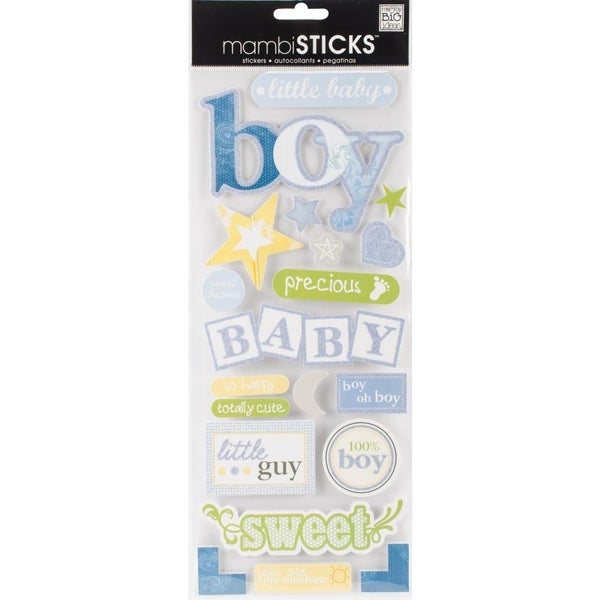 Baby Boy Chipboard Sticker