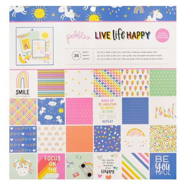Life Life Happy Paper Pad
