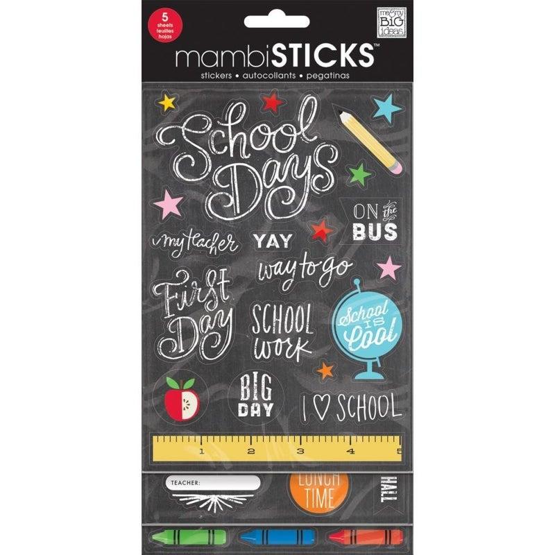 School Glitter Value Sticker