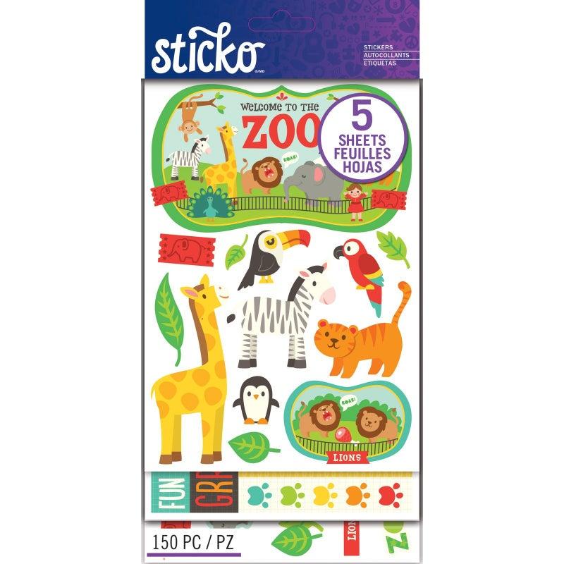 Zoo Animal Sticker Pack