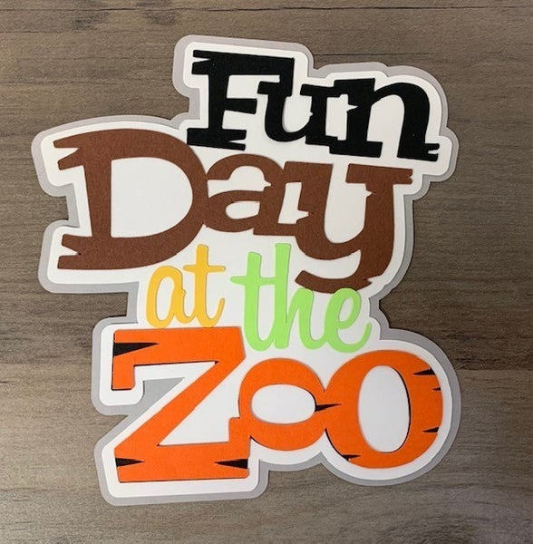 Fun Day At The Zoo Paper Piecing D