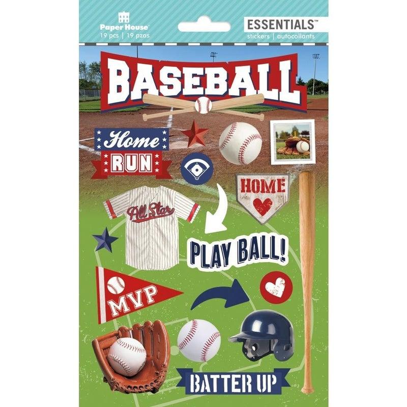Baseball 3D Stickers