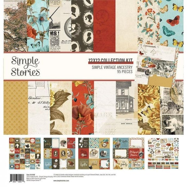 Simple Vintage Family Ancestry Paper Pack
