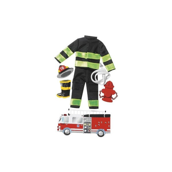 Firefighter Dimensional Stickers