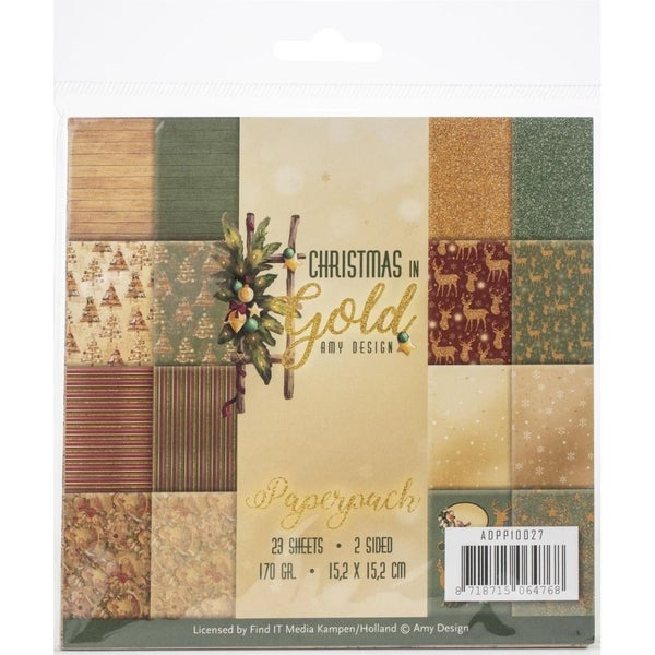 Christmas Gold 6x6 Paper Pad