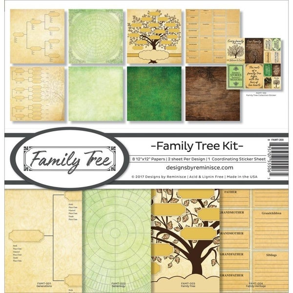 Family Tree Paper Pack