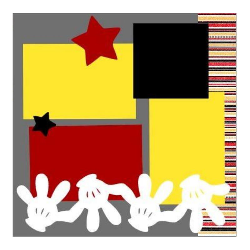 Mickey Stripes Kit