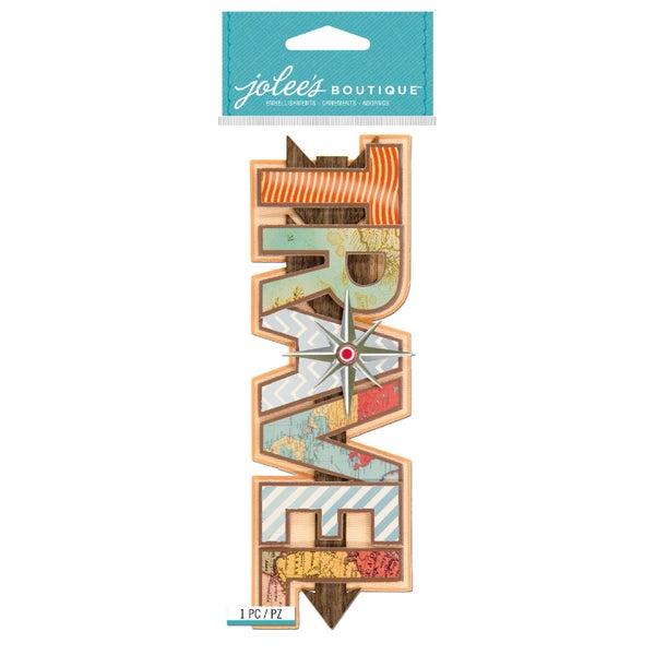 Travel Title Sticker