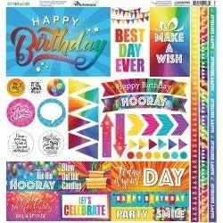Birthday Bash 12x12 Sticker Sheet