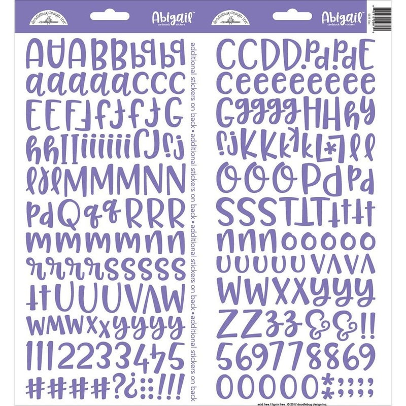 Abigail Alphabet Stickers -Lilac Purple