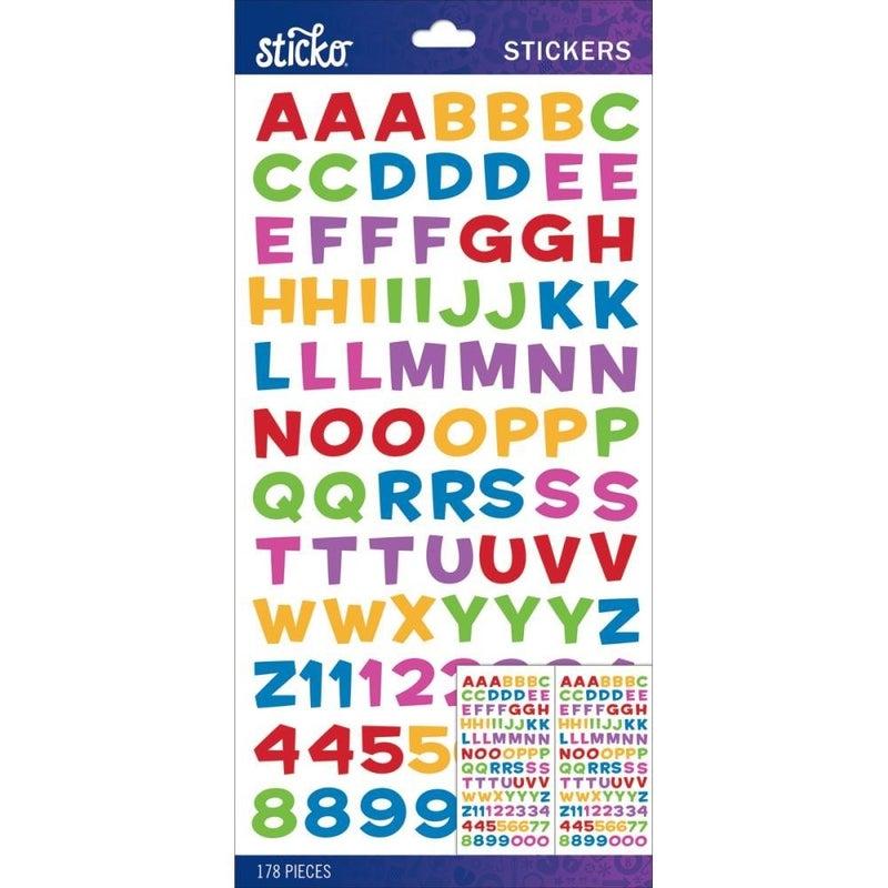 Multi Metallic Funhouse Alphabet Stickers