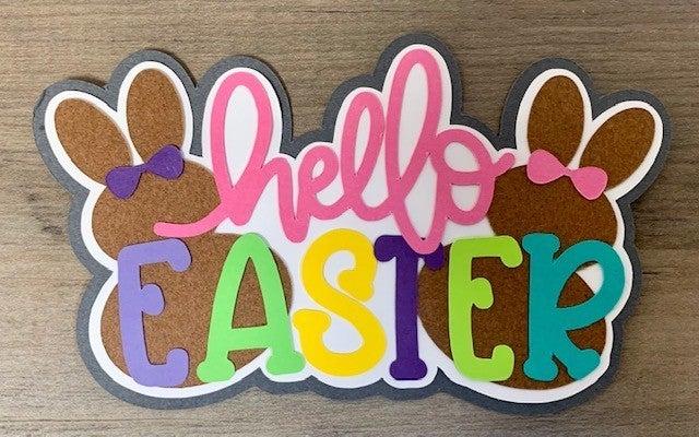 Hello Easter Paper Piecing