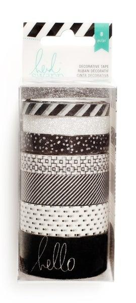 Black & White Washi Tape 8 pack