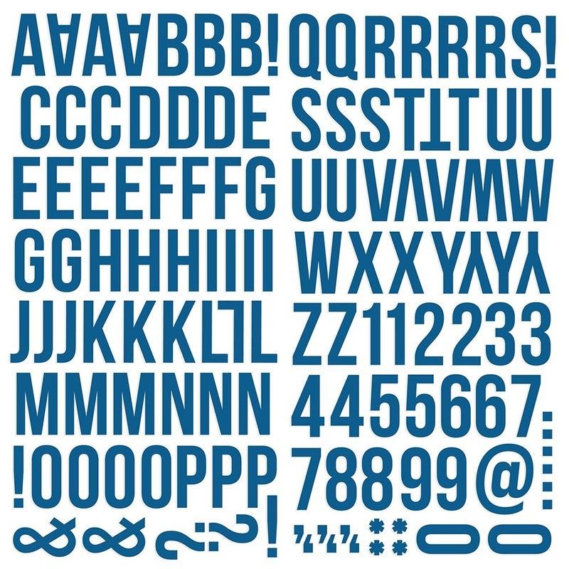 Navy Foam Alphabet Stickers