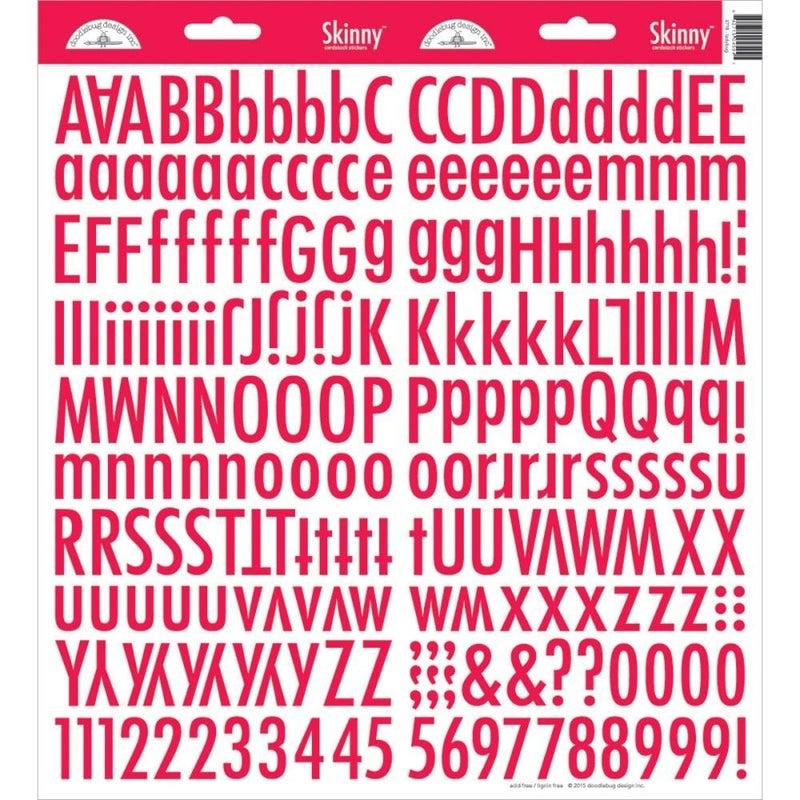 Skinny Alphabet Stickers - Ladybug Red