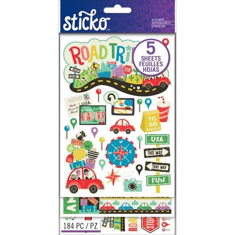 Sticko Flip Pack - Road Trip Stickers