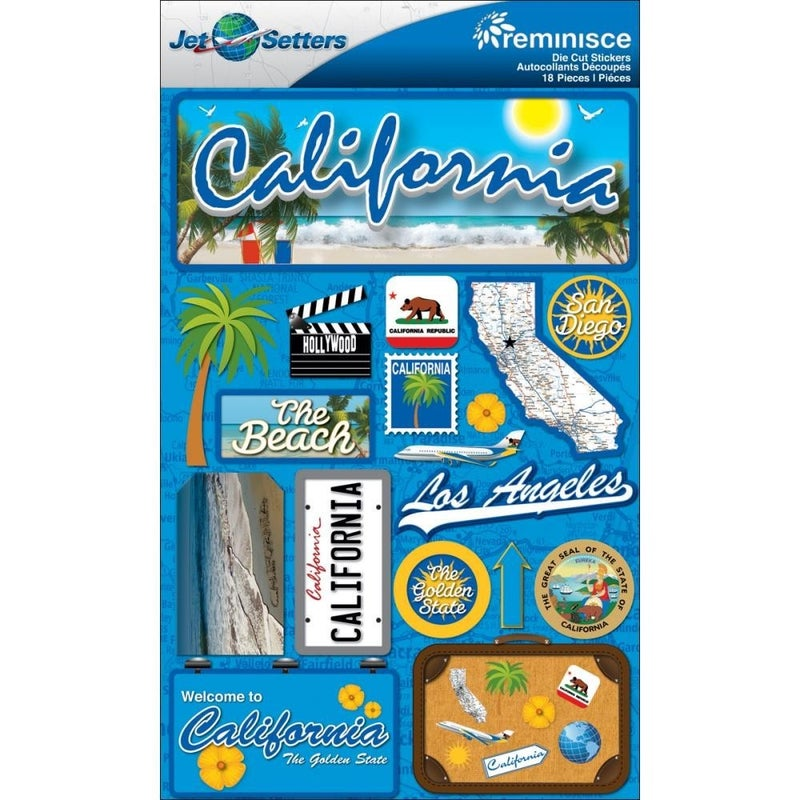 Jet Setters California Stickers