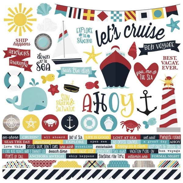 Cruise 12x12 Travel Stickers