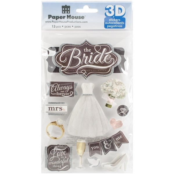 3D The Bride Stickers
