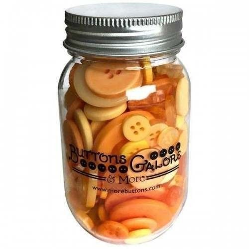 Buttons Mason Jar - Sunrise