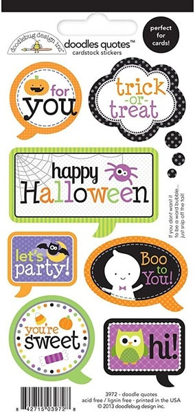 Halloween Quotes Stickers